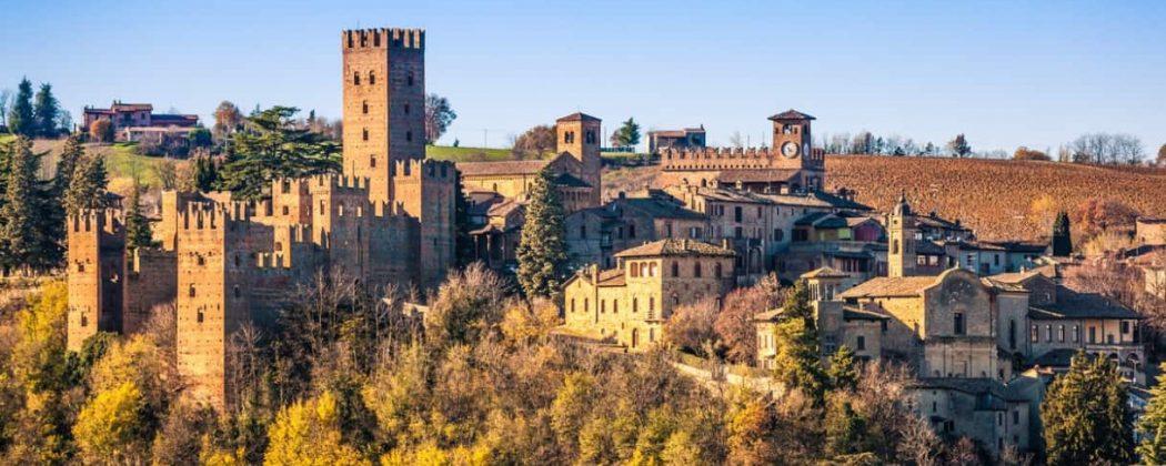 Castell'Arquato sui colli piacentini